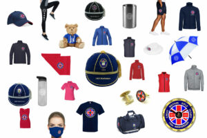 Collage of clothing and accesories for the GBRT 150th Anniversary